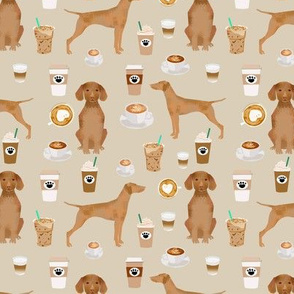 Vizsla coffee cafe dog fabric pet dog breeds vizslas tan