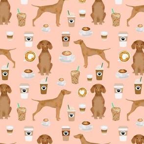 Vizsla coffee cafe dog fabric pet dog breeds vizslas pink