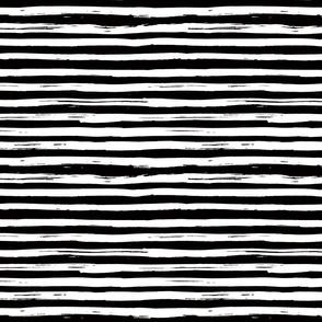 Inky Lines - Black - Reverse Pattern