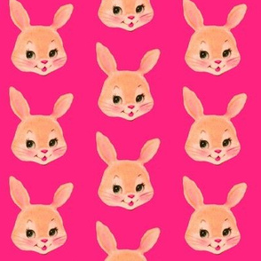 Bunny Head on Hotpink!