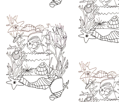 Coloring_page fabric by grace_ann_03 on Spoonflower - custom fabric