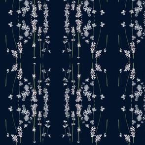 White Lavender Nighttime Navy