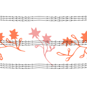 Orange Flowers | Squiggle Lines