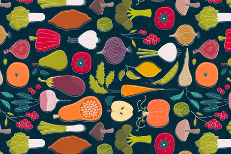 Fall Farmers Market fabric by sarah_knight on Spoonflower - custom fabric