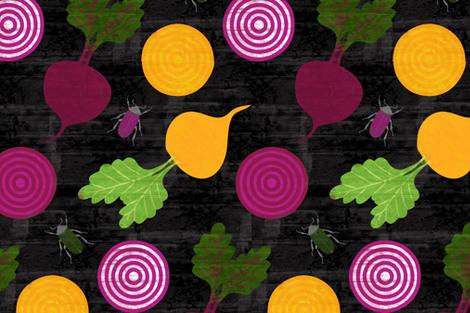 Beets & Beetles fabric by jenimp on Spoonflower - custom fabric