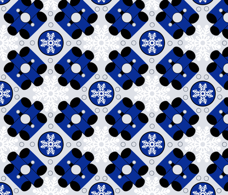 Mod Chill - navy/black/grey  fabric by franbail on Spoonflower - custom fabric