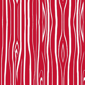 Woodgrain - Bright red