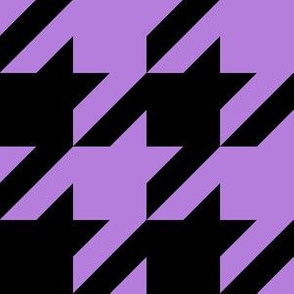 Three Inch Lavender Purple and Black Houndstooth