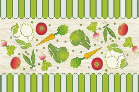 Veggie-licious_Tea_Towel fabric by lily_studio on Spoonflower - custom fabric