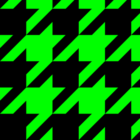Three Inch Lime Green and Black Houndstooth fabric by mtothefifthpower on Spoonflower - custom fabric