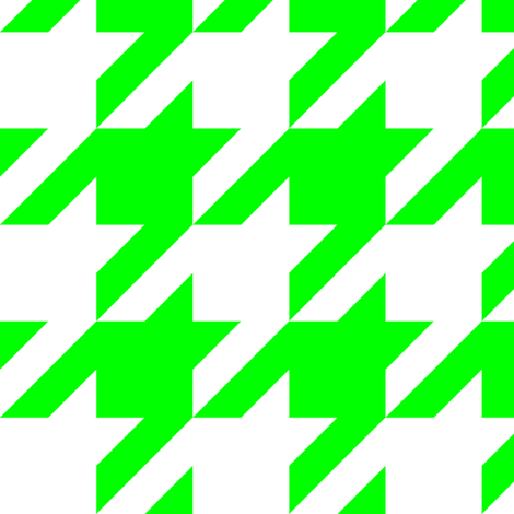 Three Inch Lime Green and White Houndstooth fabric by mtothefifthpower on Spoonflower - custom fabric