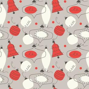 Vintage baubles ~ crimson & flannel