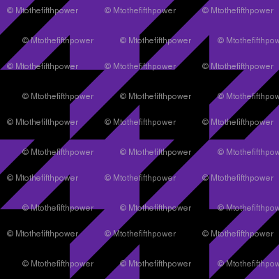 Three Inch Purple and Black Houndstooth