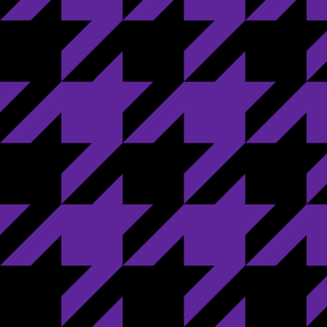 Three Inch Purple and Black Houndstooth fabric by mtothefifthpower on Spoonflower - custom fabric
