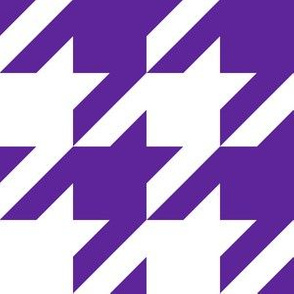 Three Inch Purple and White Houndstooth