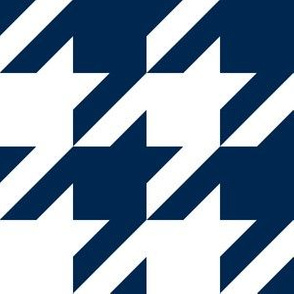 Three Inch Navy Blue and White Houndstooth