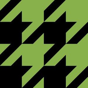 Three Inch Greenery Green and Black Houndstooth
