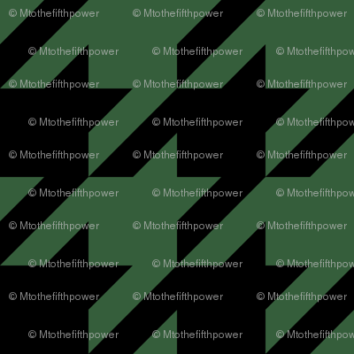 Three Inch Hunter Green and Black Houndstooth