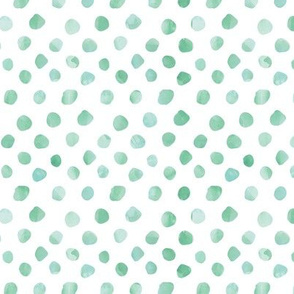 Watercolor Green Dots