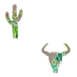 "7"" He is Fierce /Mix & Match Option 3 with cactus"