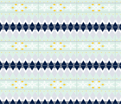 Snow Flakes, icicles and winter sun fabric by rcmzstudio on Spoonflower - custom fabric