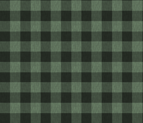 Textured Buffalo Plaid - Dark green and black fabric by sugarpinedesign on Spoonflower - custom fabric