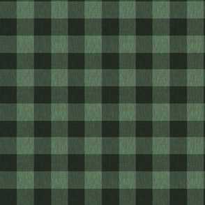 Textured Buffalo Plaid - Dark green and black