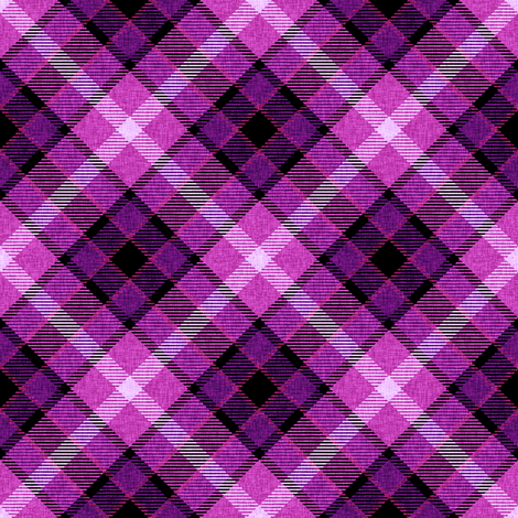 Custom Violet and Magenta Plaid fabric by eclectic_house on Spoonflower - custom fabric