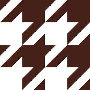 Three Inch Brown and White Houndstooth