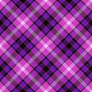Custom Violet Magenta and Blue Plaid