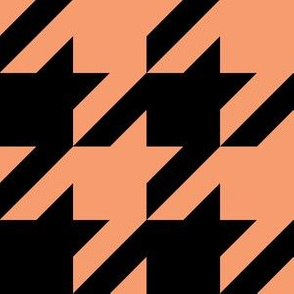 Three Inch Peach and Black Houndstooth
