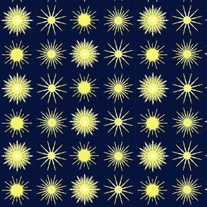 Stars in the night sky twinkling