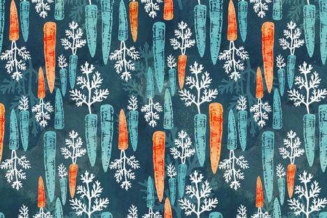 Watercolor carrot repeat fabric by adenaj on Spoonflower - custom fabric