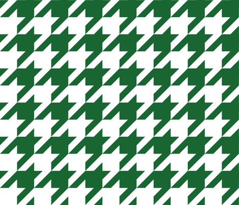 Three Inch Spruce Green and White Houndstooth fabric by mtothefifthpower on Spoonflower - custom fabric