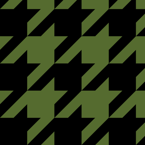 Three Inch Olive Green and Black Houndstooth fabric by mtothefifthpower on Spoonflower - custom fabric