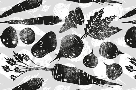 Root Veg fabric by pinky_wittingslow on Spoonflower - custom fabric