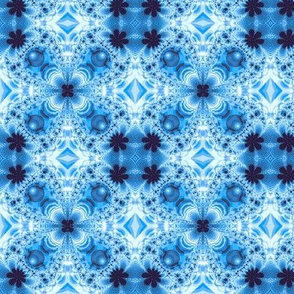 Groovy Fractal Gingham, Blue