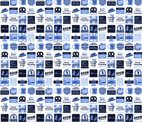 The Office Jokes fabric by nerdfabrics on Spoonflower - custom fabric