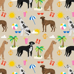 Great Dane beach summer fabric dog breeds pets sand