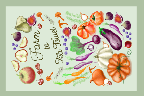 Fall Veggie market  fabric by appaloosa_designs on Spoonflower - custom fabric