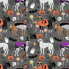 Great Dane halloween fabric dog breeds pets grey