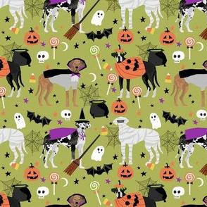 Great Dane halloween fabric dog breeds pets green