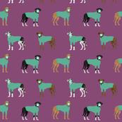 Great Dane scrubs custom fabric dog breeds pets purple