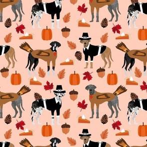 Great Dane thanksgiving fabric dog breeds pets peach