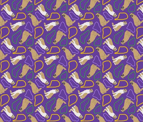 Tiny Anatolian Shepherd dogs - Mardi Gras fabric by rusticcorgi on Spoonflower - custom fabric