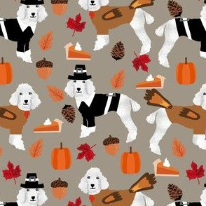 poodle fabric white poodle dog design thanksgiving fabric