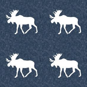 """P- Navy Linen Moose 9"""""""