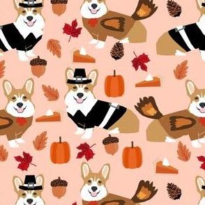 corgi thanksgiving fabric dog autumn fall fabric