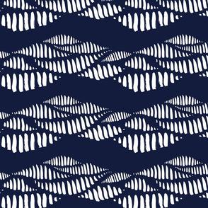 Inky Waves - Indigo