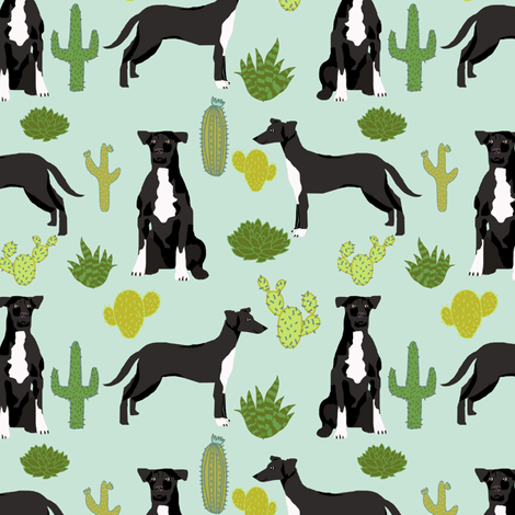 Dog cactus fabric.  fabric by petfriendly on Spoonflower - custom fabric